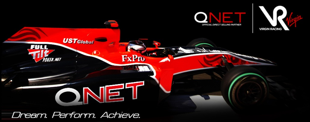 Qnet Tie Up With Virgin Marussia F1 Racing Team Ink